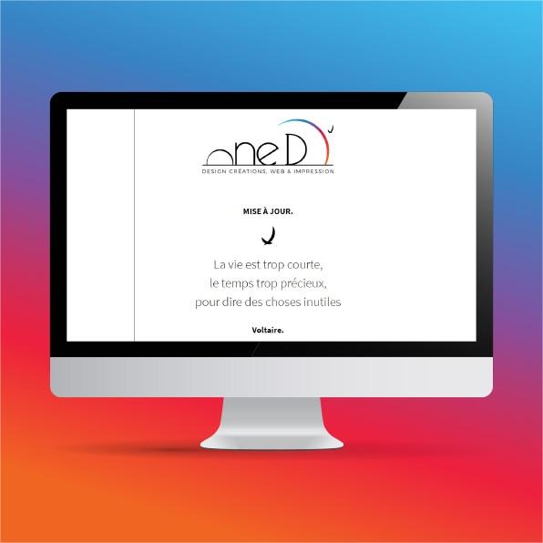 Page de maintenance du site One D