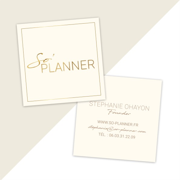 Carte de visite wedding planner